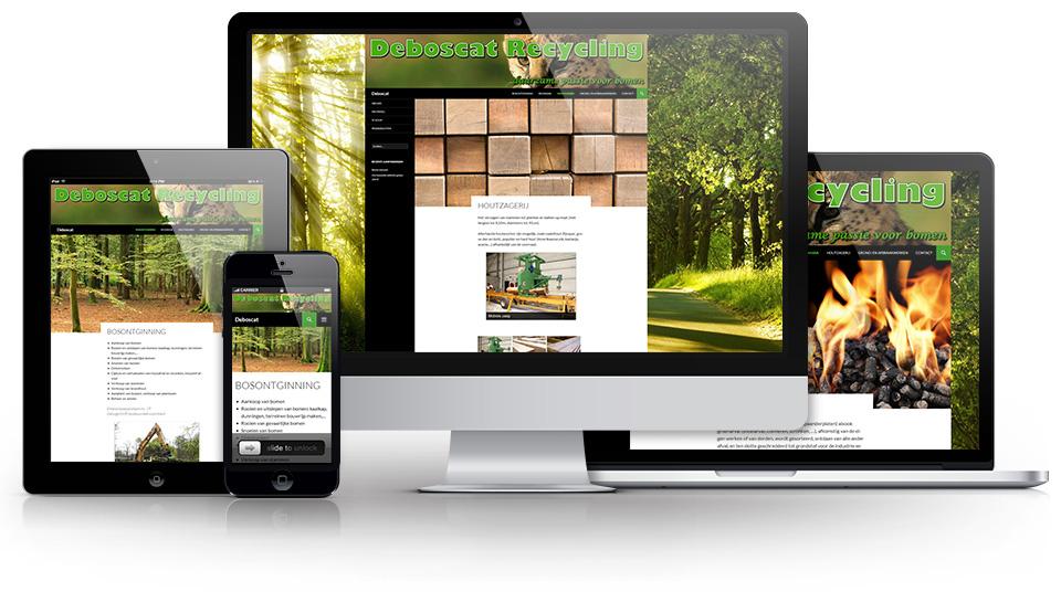 Voorbeeld weergave website op desktop, tablet, smartphone,...