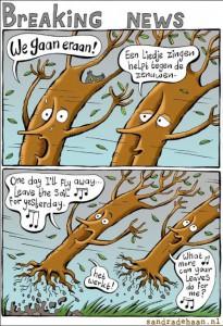 uitwaaiende bomen